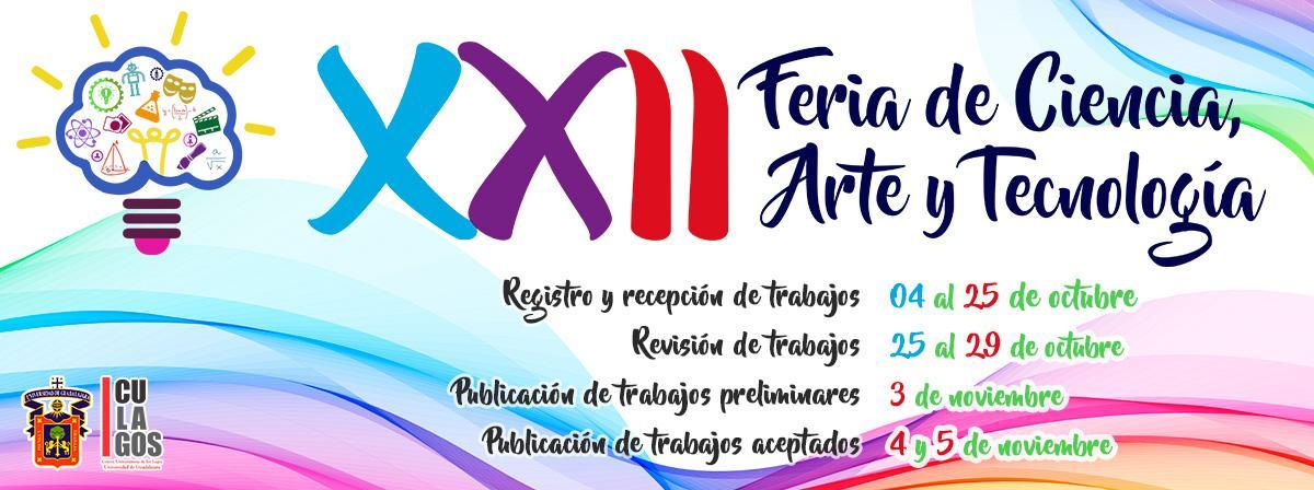 Banner Fechas importantes de la XXII Feria de Ciencias, arte y tecnología