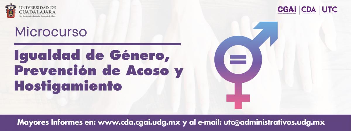Banner Microcurso Igualdad de género